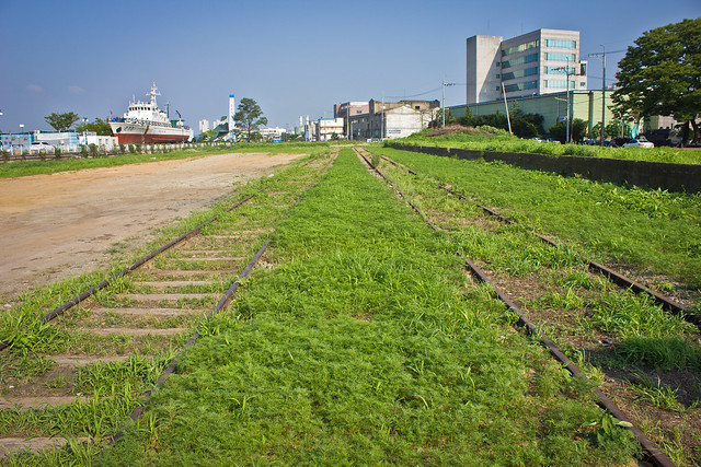 Old railroad in the port, Gunsan, South Korea