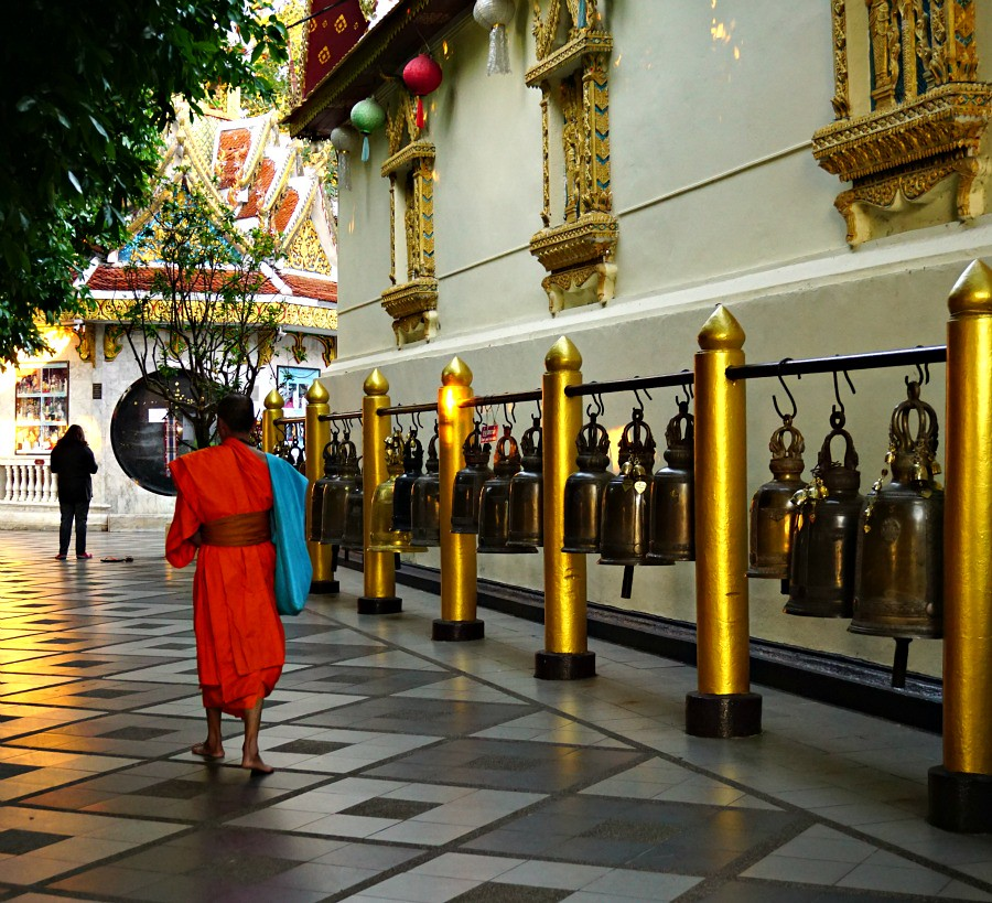 Monk at Doi Suthep Thailand