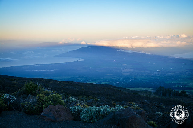 Maui at sunrise from Mount Haleakala