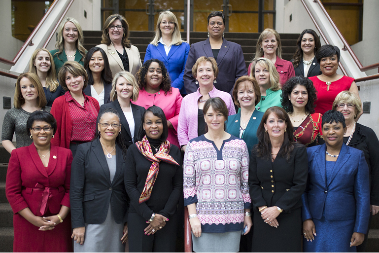 Rep. Melanie Stambaugh (top row, far left) stands with other members of the 2016 class of the Governing Institute's 'Women in Government Leadership Program'
