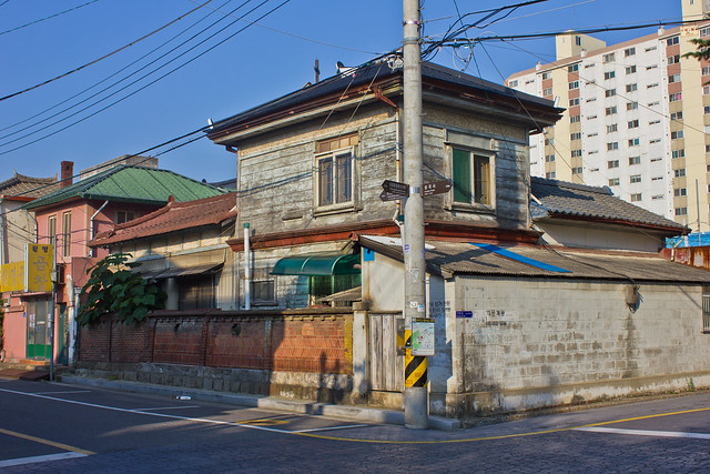 Intersection of colonial buildings, Gunsan, South Korea