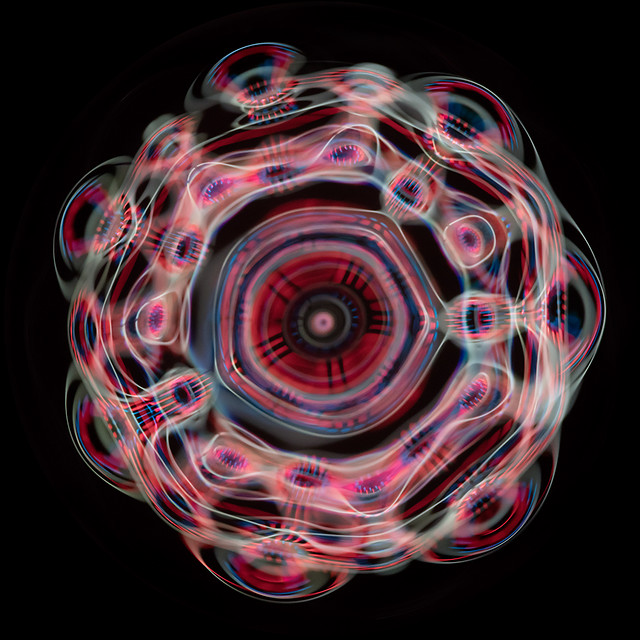 Cymatics, standing sound waves