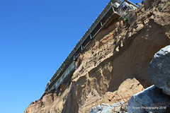 Eroding cliff in Pacifica