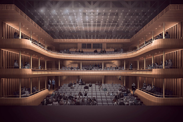 Visualization of the new Linbury Theatre © Stanton Williams 2015