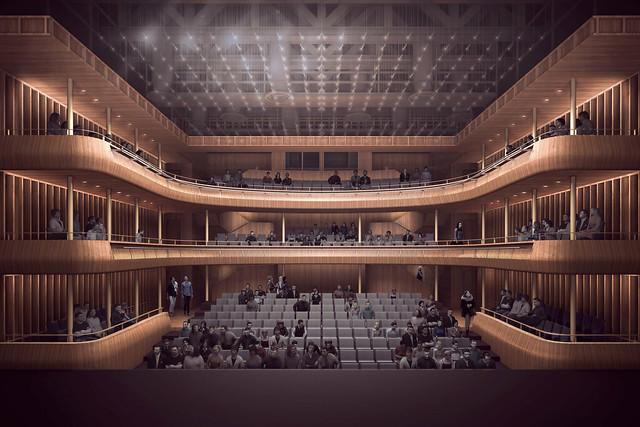 Visualization of the new Linbury Theatre © Stanton Williams 2015