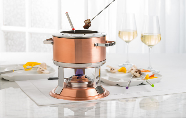 Lumina Copper Fondue Set Tanvii.com