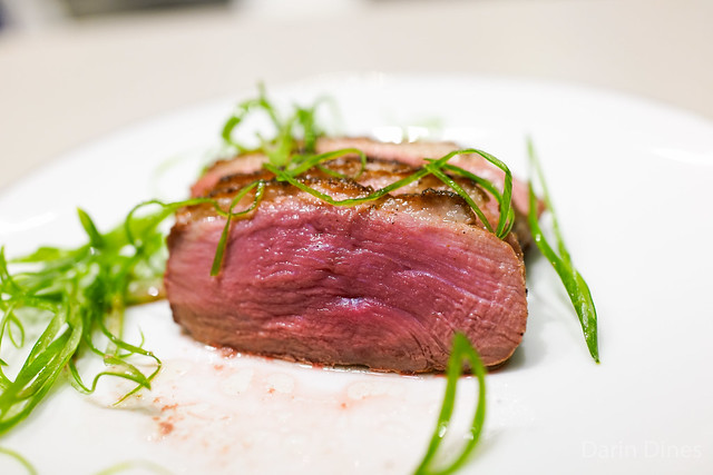 Marinated muscovy duck breast, sesame oil, ginger