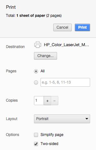 ตัวพริ้นเตอร์เป็นแบบที่รองรับการพิมพ์งานสองด้านโดยอัตโนมัติ