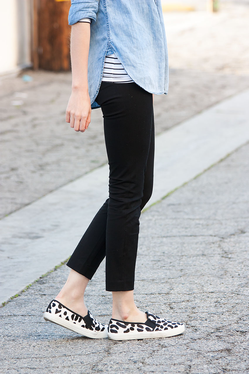 Black and White Spotted Sneakers