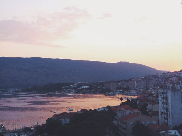 Sunset in Herceg Novi
