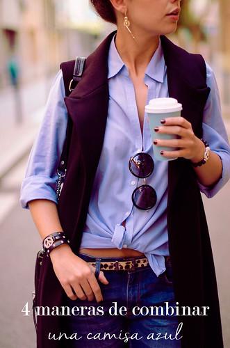 4 maneras de combinar una camisa azul