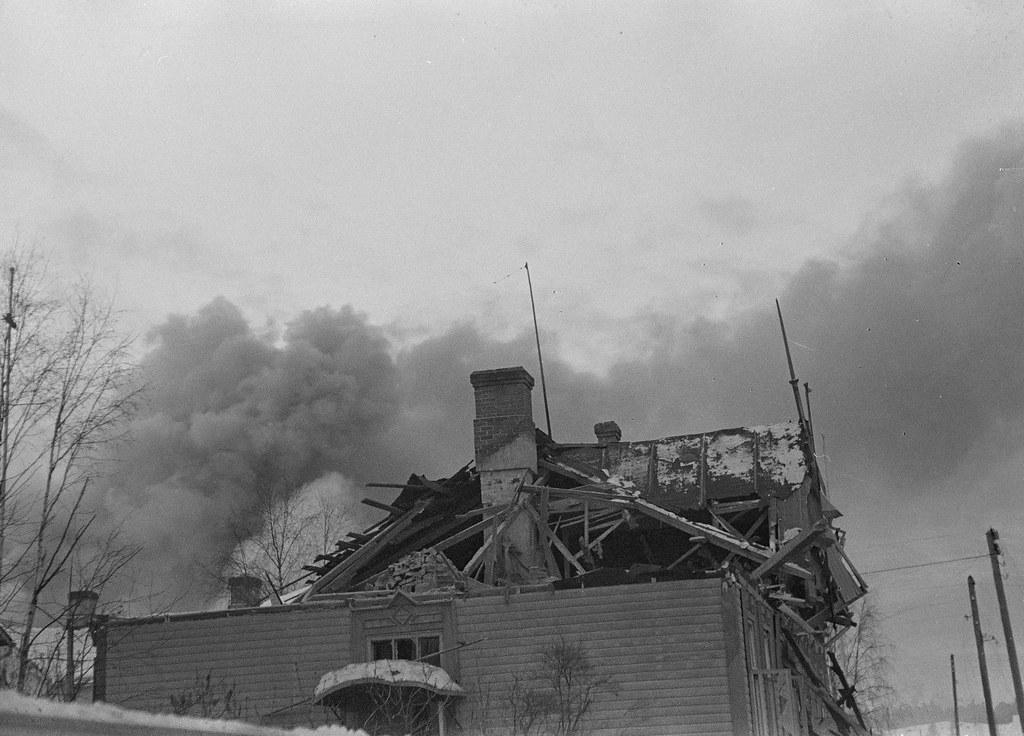 Pommituksen tuhoja Sortavalassa Sortavala 1940.01.20 08