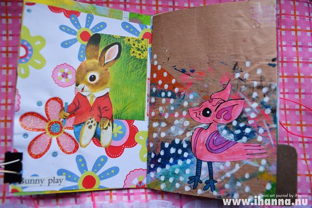 Mini Art Journal Bunny & my Drawing - created by iHanna