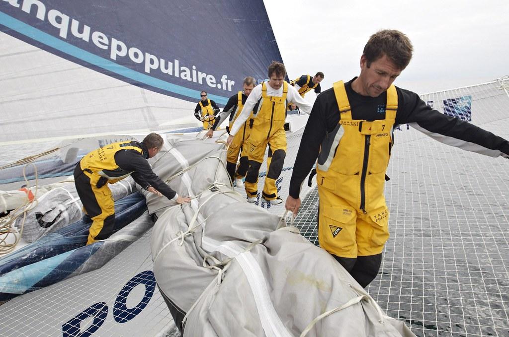 Preparation a bord du Maxi Banque Populaire V pour le Trophee Jules Verne  ©B.STICHELBAUT-BPCE