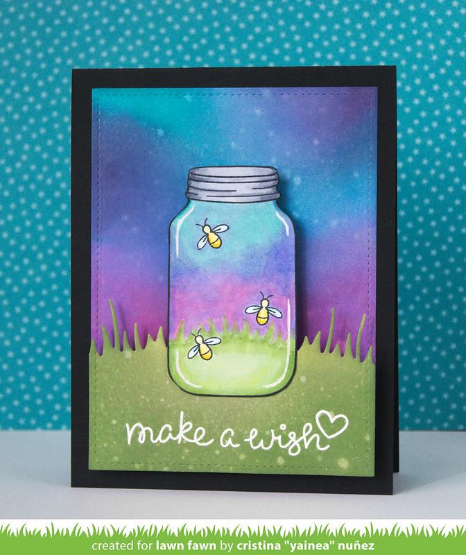 Make a wish LED card - Lights off