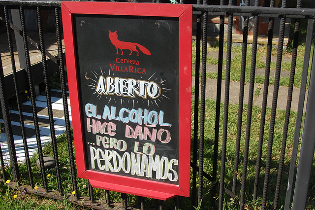 Funny Sign in City of Villarica, Chile