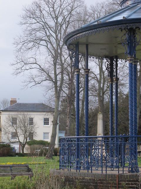 Bandstand and War Memorial, Memorial Park Romsey