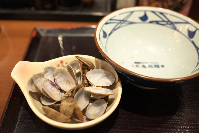 東京路地裏散歩 丸亀製麺の春のあさりうどん 2016年4月7日