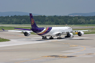 "Thai Airways International Airbus A340-642 HS-TNE  ""Nonthaburi"""