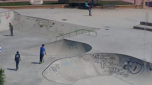 Efecto óptico en el Skatepark de Fuengirola