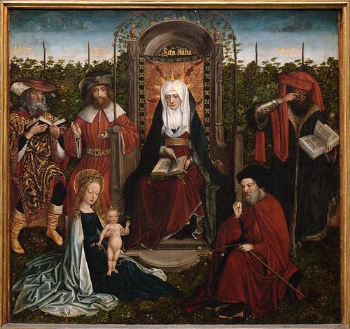 Gent, Oost-Vlaanderen, Museum voor Schone Kunsten, master of the family of St. Anne, family of St. Anne, canter panel