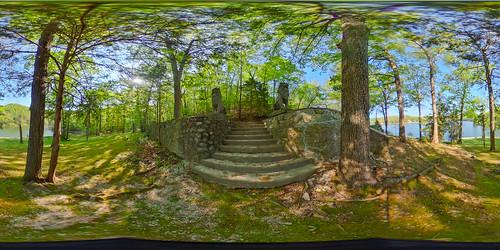 vacation sculpture house lake stairs concrete us unitedstates outdoor lion 360 step missouri mold lakeoftheozarks ricoh ozark spherical degrees theta camdenton thetas theta360 saraspaedy