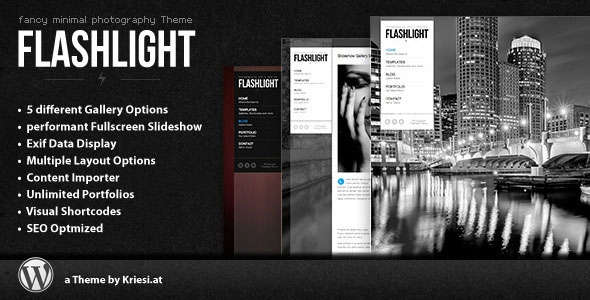 Flashlight v4.0 - fullscreen background portfolio