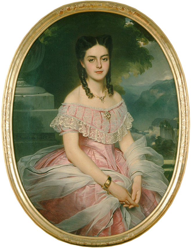 1865 Portrait of Anna Fridrica Wilhelmina von Hallwyl at 21 years old