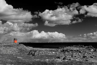 Scarlett Point, Castletown, IoM - Monochrome