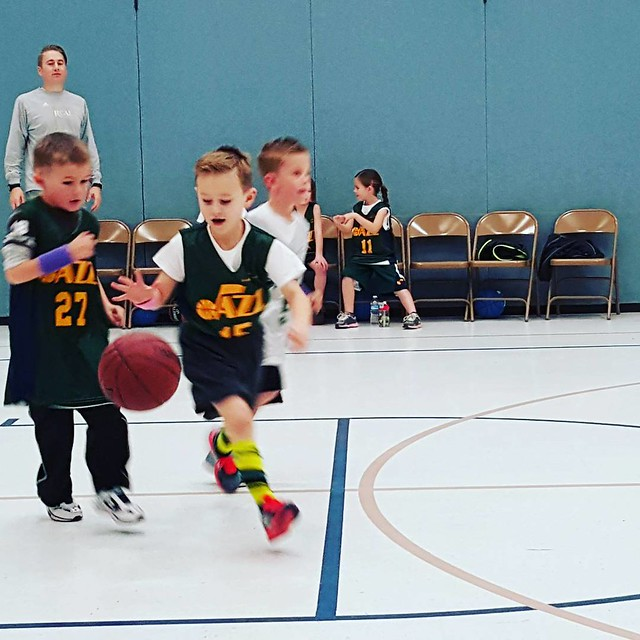 This child thought he was the point guard today.  He did a great job too.
