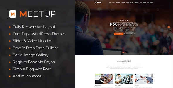 Themeforest Meetup v1.0 - Conference Event WordPress Theme