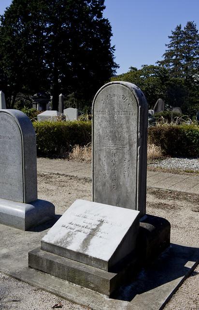 青山霊園 Mrs Anna L. Whitney 1833-1883