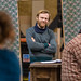 Brian Gleeson & Darragh Kelly in rehearsals for The Weir, Roseburn Workshops, The Lyceum