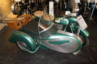 1957 MZ ES 250 motorcycle with sidecar