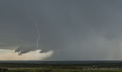 First storm of the day near Osage, Wyoming