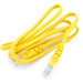 Yellow ethernet Line on  white background.
