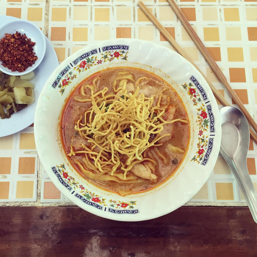 We've been to Thailand many, many times, but why hadn't we heard about this divine dish before? Khao soi is a curry- and coconut-flavoured noodle soup from the Northern Thailand that became one of our favourite Thai dishes from the very first bite. Yummy!