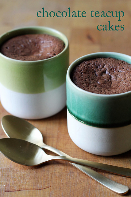 soft-centered chocolate teacup cakes