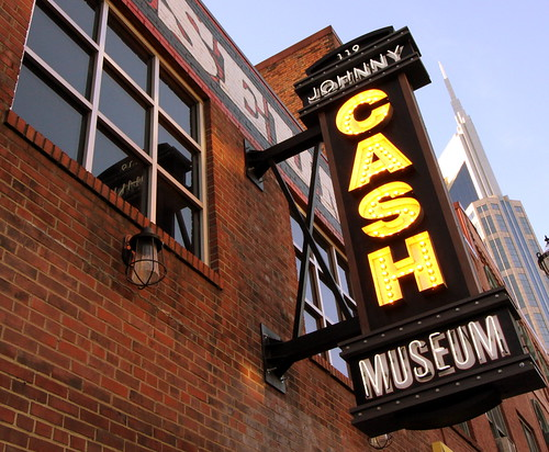 Johnny Cash Museum neon sign