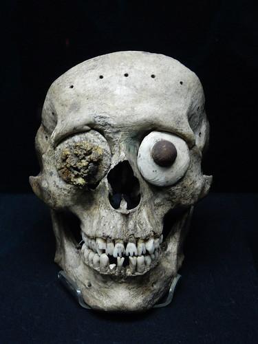 Ciudad Mexico - Templo Mayor - masker van deel schedel