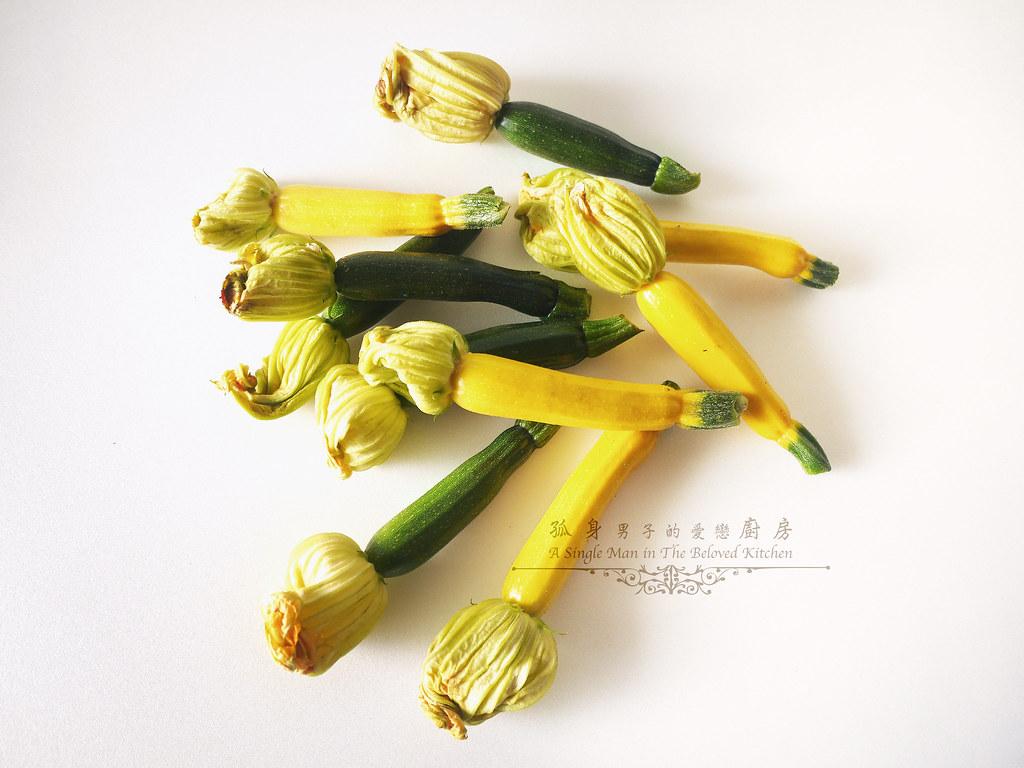 孤身廚房-綠黃雙色櫛瓜花1