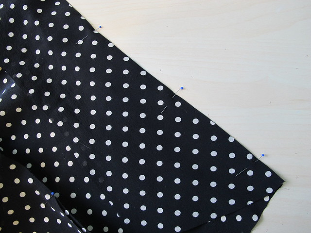 Silk Tie Blouse - sewing French seams
