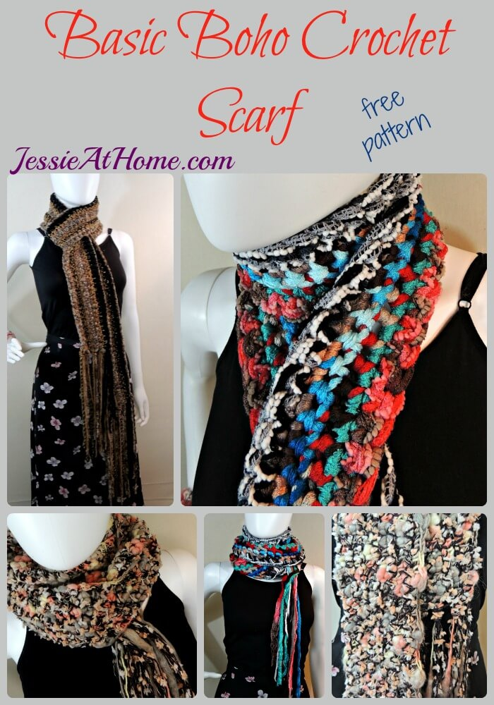 Basic Boho Crochet Scarf - free crochet pattern by Jessie At Home