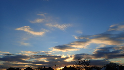 sunset night clouds gold pretty dusk february oxfordshire kidlington 2016