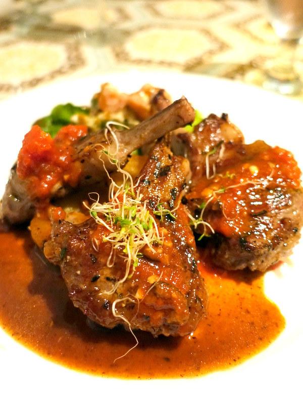 Maria Luisa Garden Room- Greek Style Lamb Chops Greek Style Lamb Chops