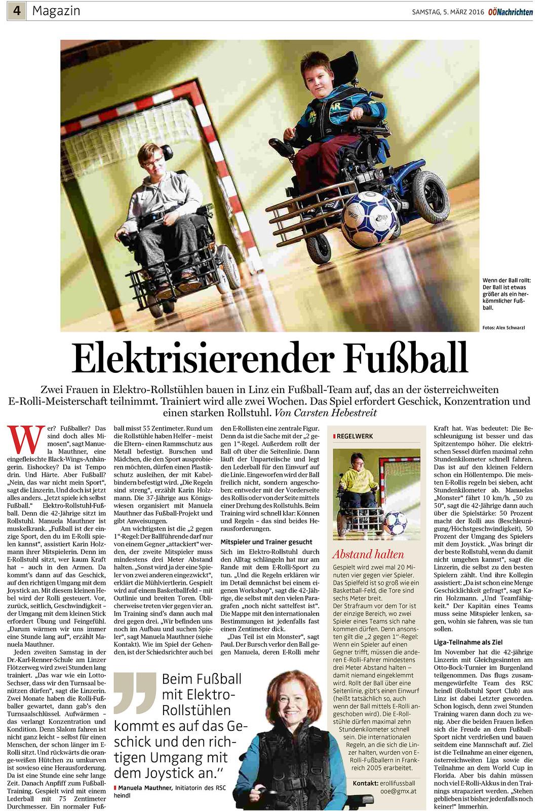 OÖN: Elektrisierender Fußball