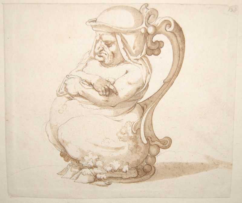 Arent van Bolten - Monster 128, from collection of 425 drawings, 1588-1633