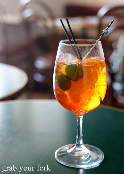 Aperol spritz at 10 William Street, Paddington