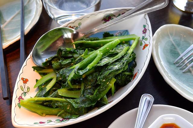 Wok Fried Seasonal Vegetables witgh Garlic at Hutong, The Shard   www.rachelphipps.com @rachelphipps
