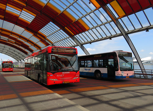 The Bus Station in Amsterdam, Holland